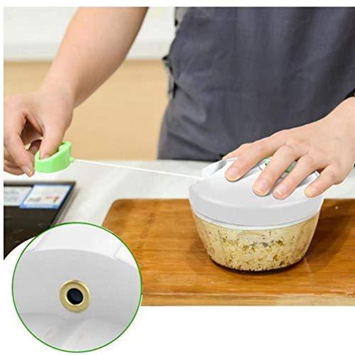 unknow Manuelle Küchenmaschine für Gemüsefrüchte Zwiebel Hand gezogen Gemüseschneider Fleischwolf Slicer für einfache Küche Verwendung Mixer