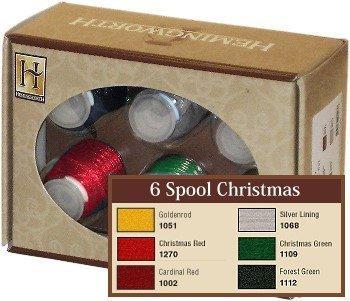 Hemingworth Embroidery Thread 6 Spool Christmas
