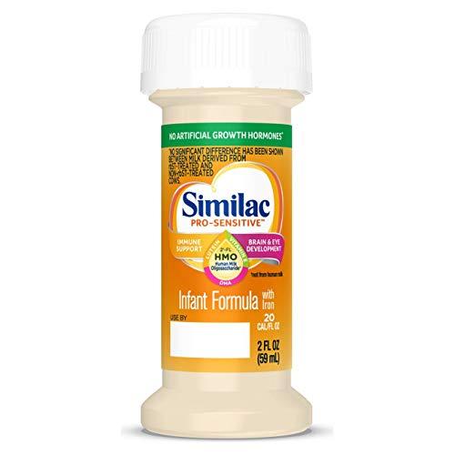 Similac Pro-Sensitive Infant Formula with 2'-FL Human Milk Oligosaccharide (HMO) for Immune Support, Ready to Drink Bottles, 2 fl oz (48 Count)