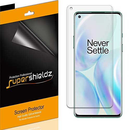 (2 Pack) Supershieldz for OnePlus 8 / OnePlus 8 5G / OnePlus 8 5G UW Screen Protector, High Definition Clear Shield (PET)