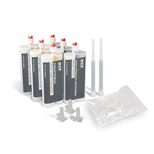 Crack Injection Kit - 30' Repair Kit For Wall Repair, Foundation repair, Basement, Pool, concrete & Crack Repair Epoxy crack Filler For Eliminating Leakage Of Water