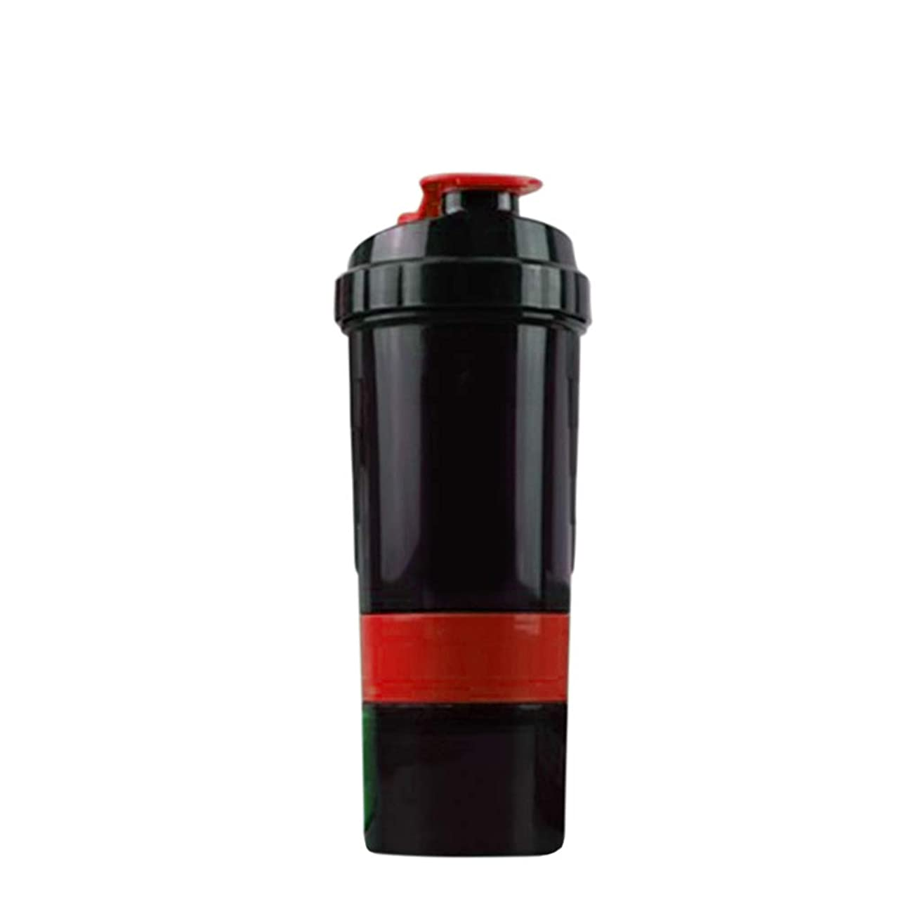 【LORIA?JP品】 Pro プロテインシェイカー 500ml 多機能 シェーカーボトル レッド