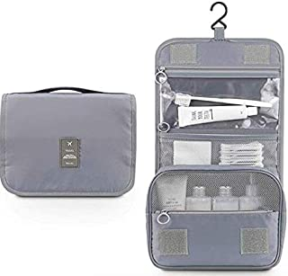 Hanging Toiletry Bag, Multifunction Travel Organizer For Men & Women, Simplicity and Stylish Waterproof Cosmetic pouch (Gray )by Cloudin.