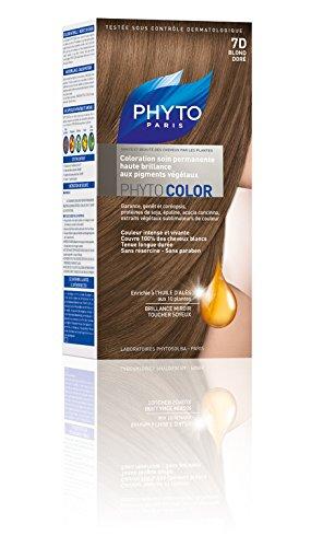 Phyto Color Coloration Soin Permanente Haute Brillance aux Pigments Végétaux - N°7D : Blond Doré