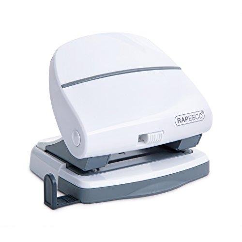 Rapesco 1274 P30 - Perforadora de 2 Agujeros, Capacidad de 30 Hojas, Blanco