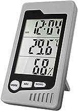 Higrómetro LCD Temperatura y Humedad Medidor Digital Thermo-higrómetro de Alta precisión Dormitorio para el hogar Multifuncional Termómetro Mojado y seco (Color : Gray)