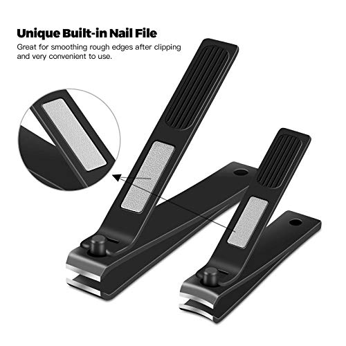 GoBetter Nail Clippers Set, Toenail & Fingernail Clippers, Sharp and Durable Nail Cutter with Zippered Case