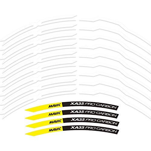 Etiqueta engomada de la rueda MTB Etiquetas de la rueda de la bicicleta de la montaña Etiquetas engomadas de la bicicleta para dos ruedas calcomanías MTB RIM Pegatinas Accesorio Pegatinas