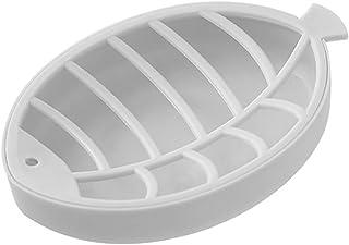 Elenxs Fish Shape Double-Deck Drain Soap Box Plastic Soap Dish Storage Container Sponge Holder Rack