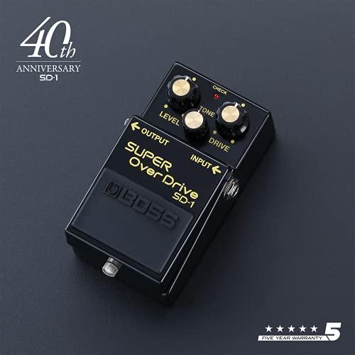 BOSS SD-1-4A – Edición limitada por el 40.º aniversario con colores invertidos – Pedal de efectos para guitarra y bajo BOSS SD-1 SUPER OverDrive