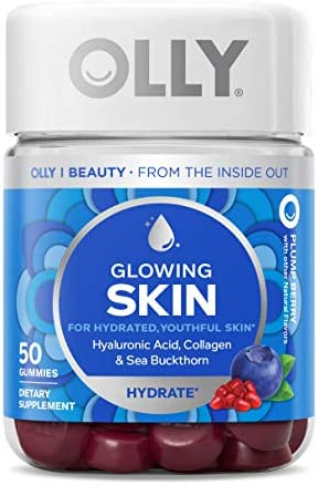 OLLY Undeniable Beauty Gummy Supplement, Biotin, Vitamin C, Keratin, For Hair, Skin, Nails, Chewable, Grapefruit Flavor, 1 Month Supply - 60 Count Pouch