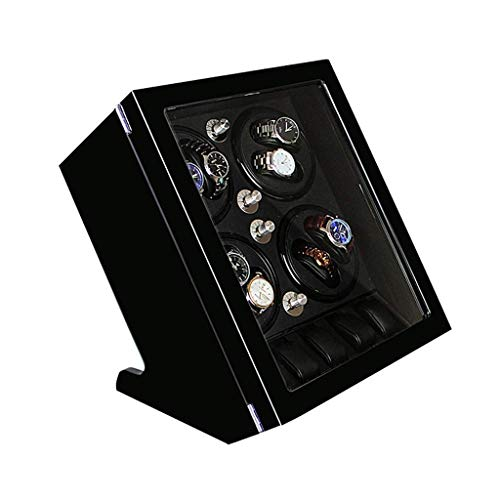 Luxury Watch Winder, Automatic Rotate Storage Box with Quiet Motor, 8+5 Watches Storages Gift Box