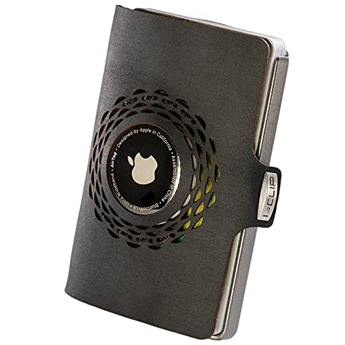 I-CLIP Original Silver Radio Impact Black, Compatible con AirTag *, Cartera, Billetera, Monedero