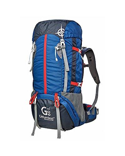 COLUMBUS G60 Schlafsack, Blau/Schwarz/Rot, One Size