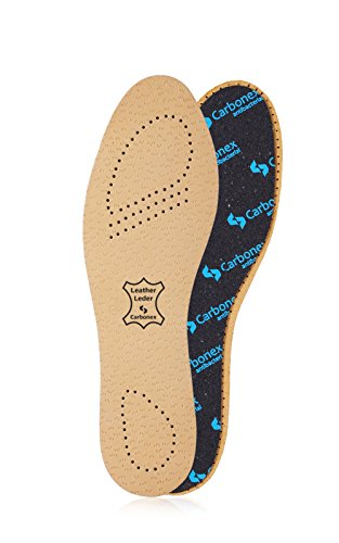 Kaps Insoles for Men & Women - Shoe Inserts w/Anti-Bacterial Pecari Carbonex & Odor Control (M12 US)