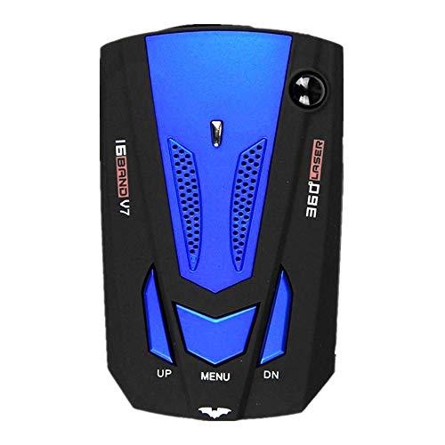 Auto Radar Velocidad Cuchillo Lazer 360 ° Voice Alert Velocidad móvil Velocímetro electrónico Perro,Detector de cámara de velocidad, sistema de alarma por voz y para automóvil / radar / láser, mod