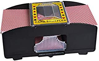 2 Decks Automatic Battery Operated Poker Card Shuffler Game Playing Shuffling Machine