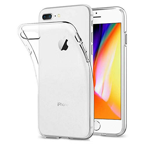 DOSMUNG Hülle kompatibel mit iPhone 8 Plus iPhone 7 Plus, Transparent Handyhülle für iPhone 8 Plus/iPhone 7 Plus Schutzhülle, HD Anti-Kratz Rückseite Backcover TPU Case für iPhone 8 Plus / 7 Plus