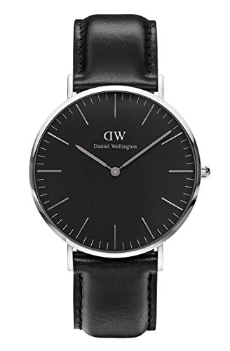 Daniel Wellington Classic Sheffield Silver Watch, 40mm, Leather, for Men and Women