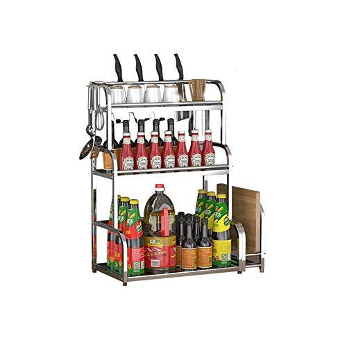 FDR Küche Rack Würzen Regalböden Regal Würzmittel Lagerung Rack Edelstahl Multifunktions-Öl Salz Sauce Essig Zu Hause Floating Kleine Regale L20.7.6 (Size : 50cm)
