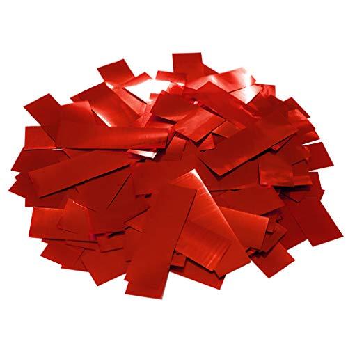 Confeti Rectangular Brillo 2x5 cm. | Bolsa 100 gr. (Rojo) |