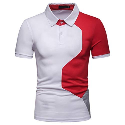 Poloshirt Herren Yesmile Slim Fit Polo Shirts Männer Sommer Kurzarm Hemd Revers Solid Casual Basic Polokragen Polohemd Ins Mode Persönlichkeit T-Shirt Hemd Herren Kurzarm Herrenhemden