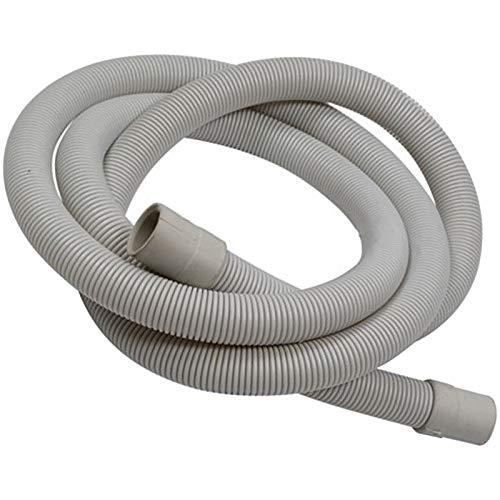 SPARES2GO Manguera de drenaje para lavavajillas compatible con tubos Servis de 2 m, rectos de 20 mm y extremos de 24 mm