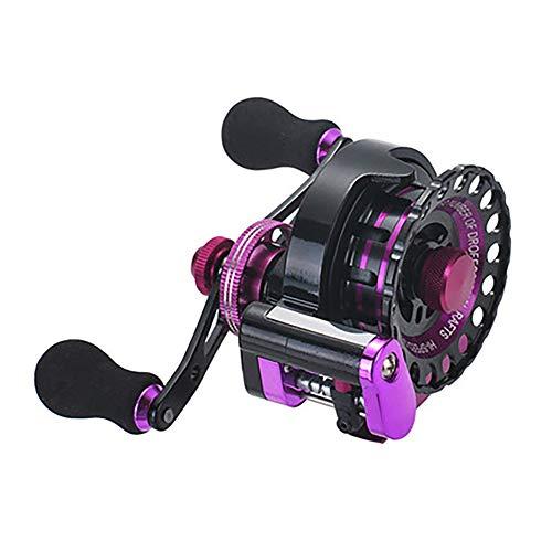 Vouwen draadmetaal vlot vissen wiel met lossing die vóór vlotvaren hengel reel, links/rechts vissen reel overbrengingsverhouding 2.6: 1,Purple