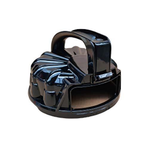 Ersatzzyklondeckel schwarz für Multi-Zyklon Staubsauger Turbotronic CV05, Ersatzdeckel Staubbehälter