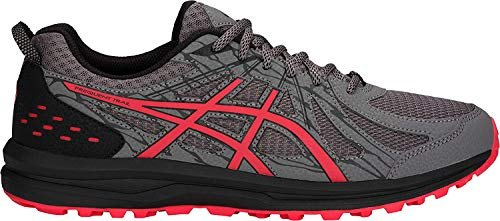 ASICS Men's Frequent Trail Running Shoes, Carbon/Red Alert, 10.5