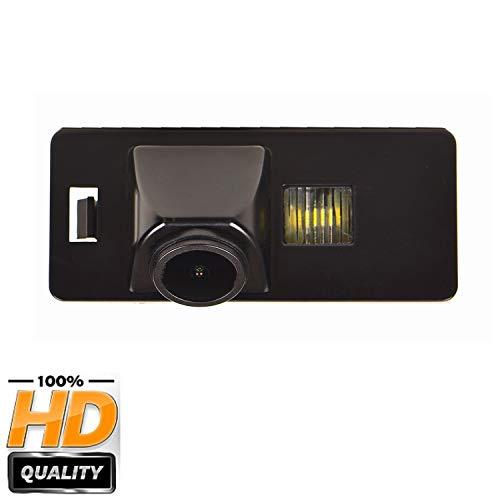 HD CCD Caméra de Recul Voiture en Couleur Kit Caméra vue arrière de voiture Imperméable IP68 Vision Nocturne pour Audi A1 A3 8P S3 A4 B6 B8 S4 A6 C6 S6 RS6 A8 RS4 TT 8N Q5 Q3 Q7