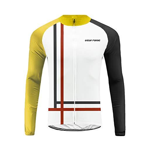 Uglyfrog Conjunto Ciclismo Moda Hombre Invierno Fleece 20D Cojín Pantalones Larga Thermo Lana Malliot de Ciclismo Ropa de Ciclista Bodies Anti-frío FAXLZR0