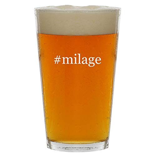 #milage - 16oz Hashtag Clear Glass Beer Pint Glass