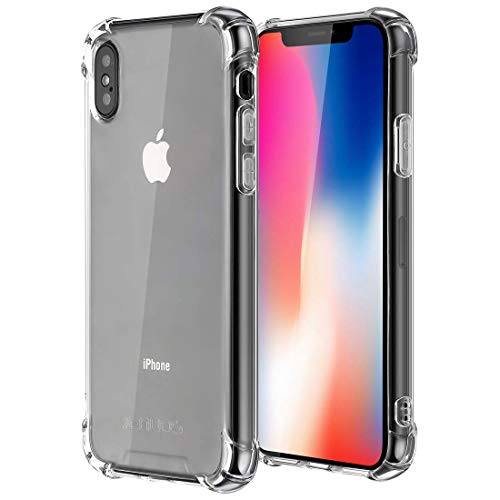 Jenuos Cover iPhone X, Cover iPhone XS, Custodia Trasparente Antiurto Paraurti Silicone Trasparente Cover TPU per Apple iPhone XS/iPhone X/iPhone 10 5.8
