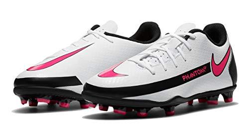 Nike Phantom GT Club FG/MG, Zapatillas de fútbol, Blanco, Rosa y Negro, 35.5 EU