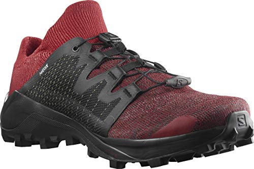 SALOMON Cross Hike GTX, Zapatos para Senderismo Hombre, Goji Beere Negro Rojo Naranja, 42 2/3 EU