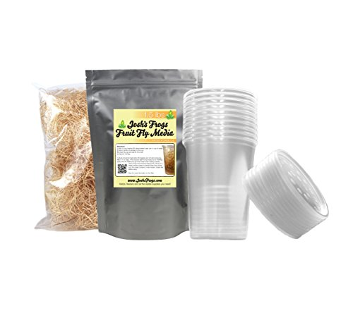 Josh's Frogs Hydei Fruit Fly Culture Kit (Makes 10 Cultures)