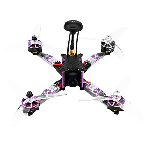 RC Racing Quadcopter, Fibra de Carbono BLHeli_32 ESC 2306 1800KV Motor RC Modelo Veh¨ªculo Drone con Micro C¨¢Mara(Without Receiver for FRSKY XM)
