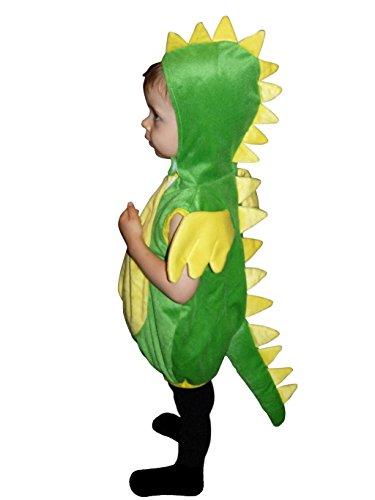Seruna Drachen-Kostüm, F82/00 Gr.98-104, für Kinder, Drache Kind Drachen-Kostüme für Fasching Karneval, Kleinkinder-Karnevalskostüme, Kinder-Faschingskostüme, Geburtstags-Geschenk Weihnachts-Geschenk