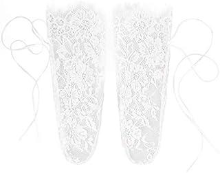 De Lujo De La Mujer De La Pesta?a De Encaje De La Cinta Calcetines Transparentes Florales De Encaje Calcetines De Malla De Malla De Medias De Calcetín Medias De Algodón Blanco