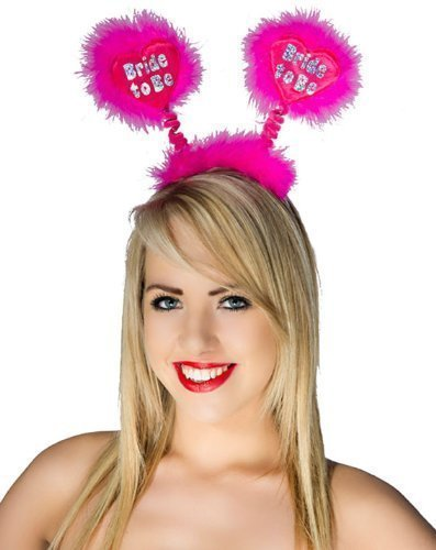 Miss Behave Hot Pink Bride To Be Fluffy Bopper Pink Hearts by Alandra Products LTD