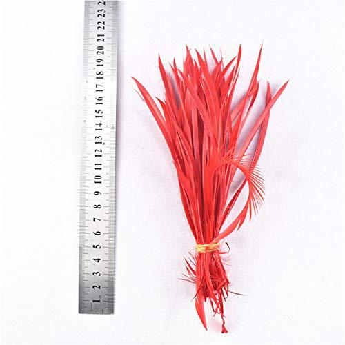 DFYYQ 20pcs / Lote Varias Plumas Rojas Gallo Ganso faisán Plumas de faisán para la joyería de la artesanía Haciendo Pavo Real Avestruz Plumas Plumas Plumas (Color : 15-20CM 6-8inch)