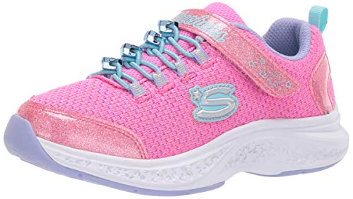 Skechers 302019L/PKMT Star Speeder-Jewel Kicks Kinder Mädchen Sneaker Turnschuhe Glitzer pink/rosa/weiß, Größe:35, Farbe:Pink