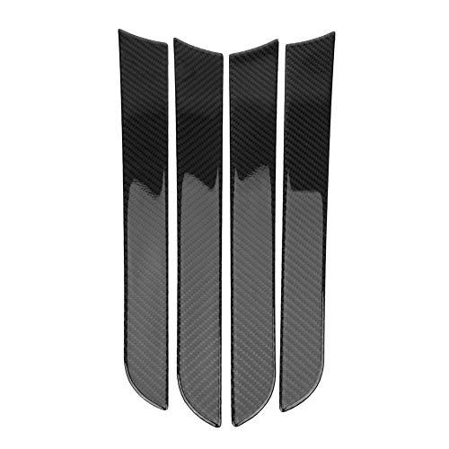 Auto Türverkleidung Rahmen 4 Stücke Auto Tür Seitenverkleidung Dekorative Abdeckung Zierrahmen, Kohlefaser Auto Tür Seitenrahmen für A4 B8 2007-2016