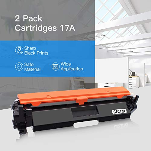 LxTek Compatible Toner Cartridge Replacement for HP 17A CF217A to use with Laserjet Pro M102w M130fw, Laserjet Pro MFP M130fw M130nw M130fn M130a Printer, 2 Black, High Yield(with Chip)