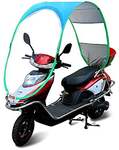Universal Bicicleta Eléctrica Paraguas Impermeable Plegable Completamente Cerrado, Toldo De La Motocicleta...