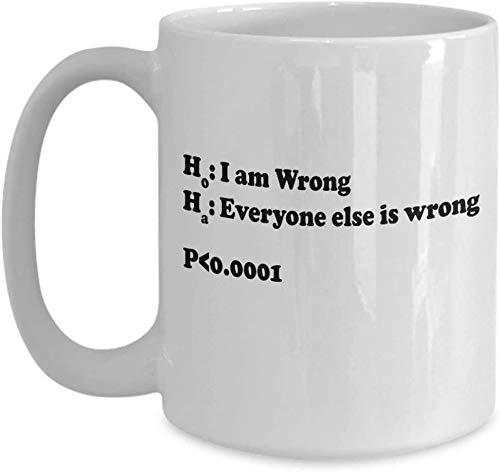 Statistik Witzbecher Statistik Geschenke Mathe Witzwitz Statistik Humor Statistiker Witz Nerdy Becher Lustiger Nerd Kaffeebecher Geeky Becher