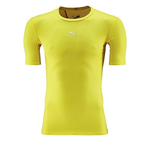 PUMA Herren T-Shirt PB Core Short Sleeve Kompressionsshirt, Blazing Yellow, XL