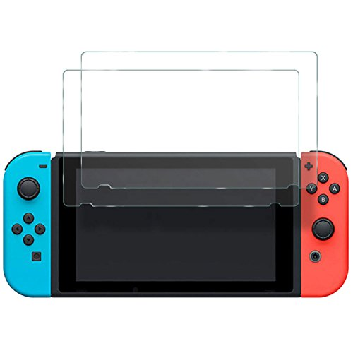 Mondpalast 2x Premium Screen Protector Tempered Glass scratchproof and ULTRA STRENGTH INDEX 9H Hardness High transparency for Nintendo Switch NINTENDO SWITCH nintendo switch