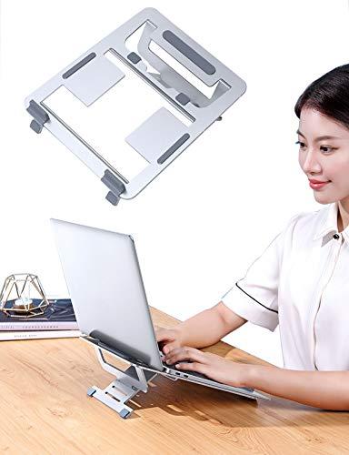 Recliner Soporte Ergonómico para Computadora Portátil De Oficina Compatible con 11 '' -17 '' Tabletas iPad Computadora Portátil Soporte De Computadora De Aluminio,Ventilado